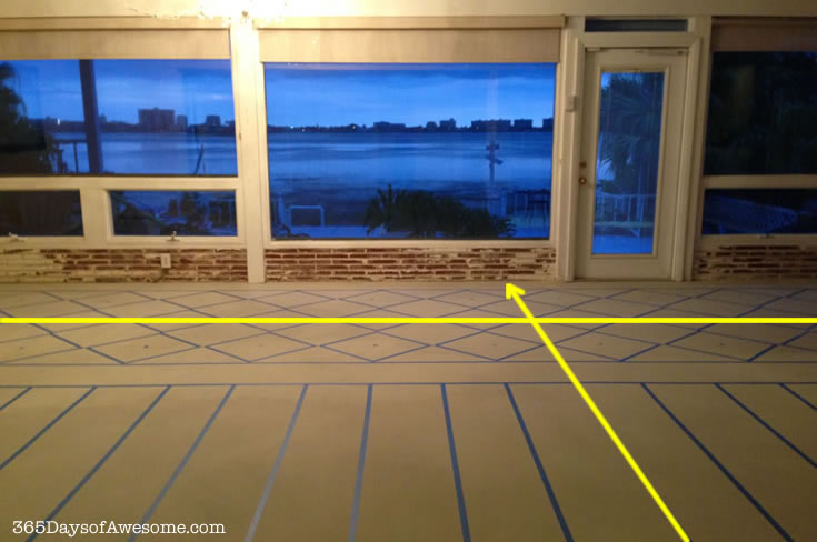 Painting my floors: Creating the control line.