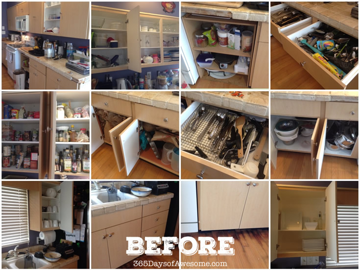 Before I remodeled and organized my kitchen