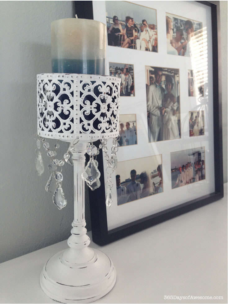 700-Chalk Painted Candle Holder 2