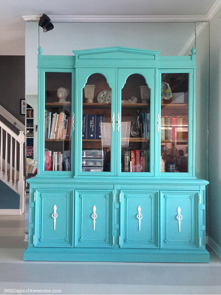 Hand Painted China Hutch with Annie Sloan Chalk Paint