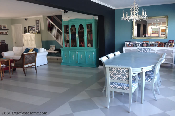 Hand Painted Wide Stripe Floors with Annie Sloan Chalk Paint: