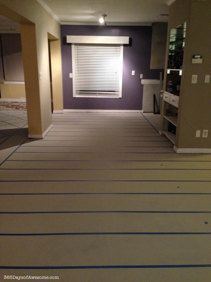700-wide stripes taped to bk