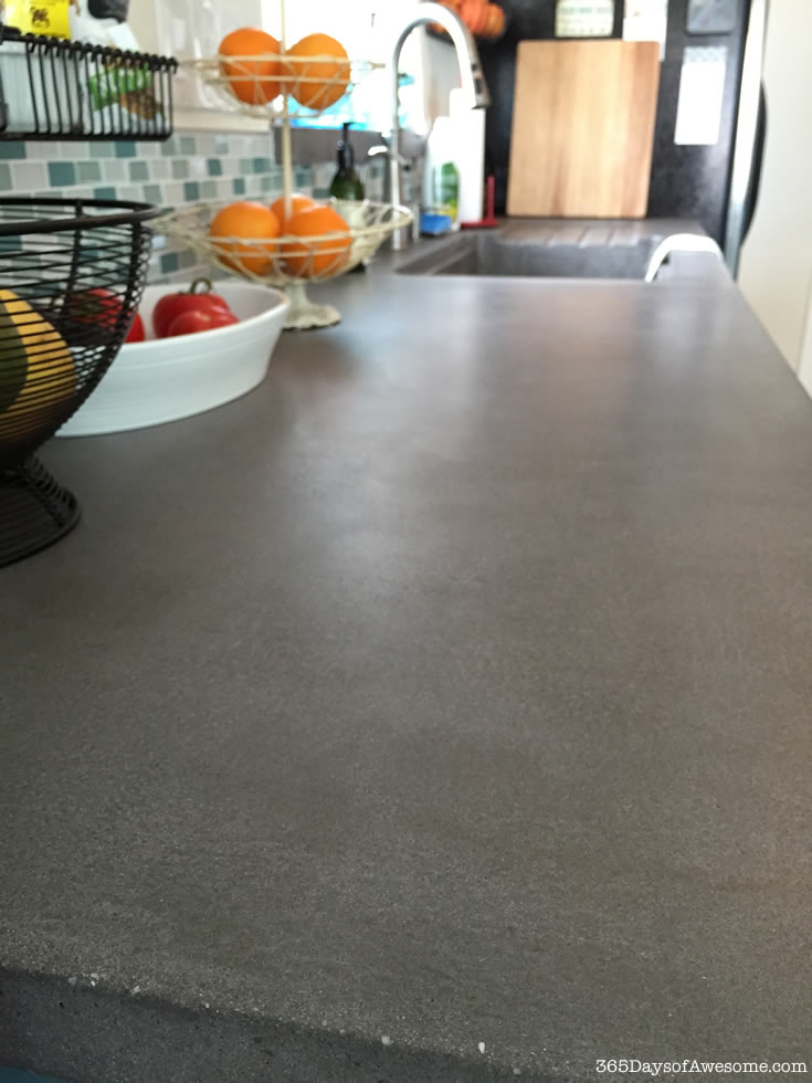 Concrete kitchen counter tops.